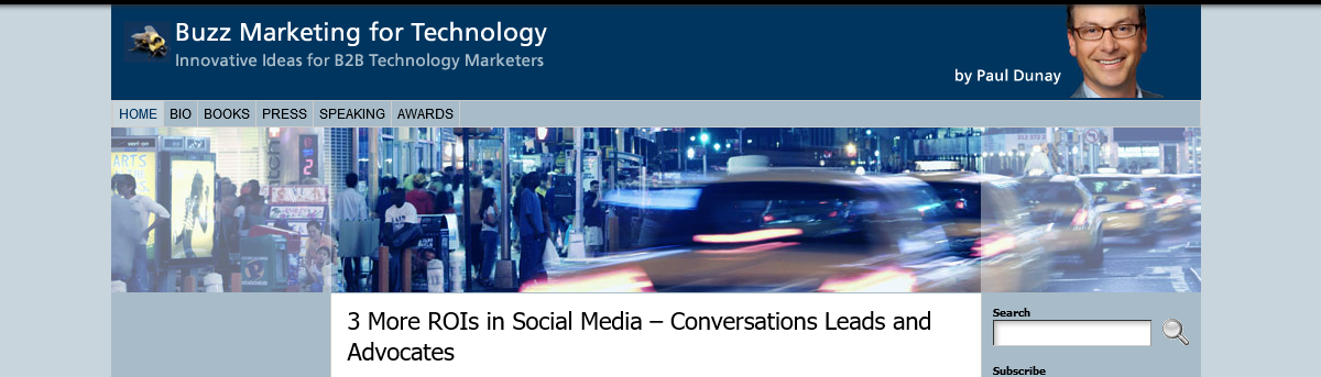 Link of the day: Buzz Marketing for Technology