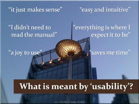 What is meant by usability?