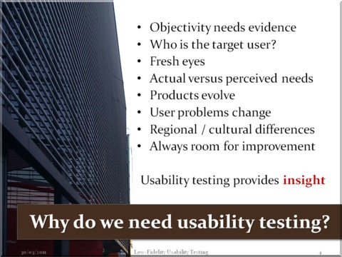 Why do we need usability testing?