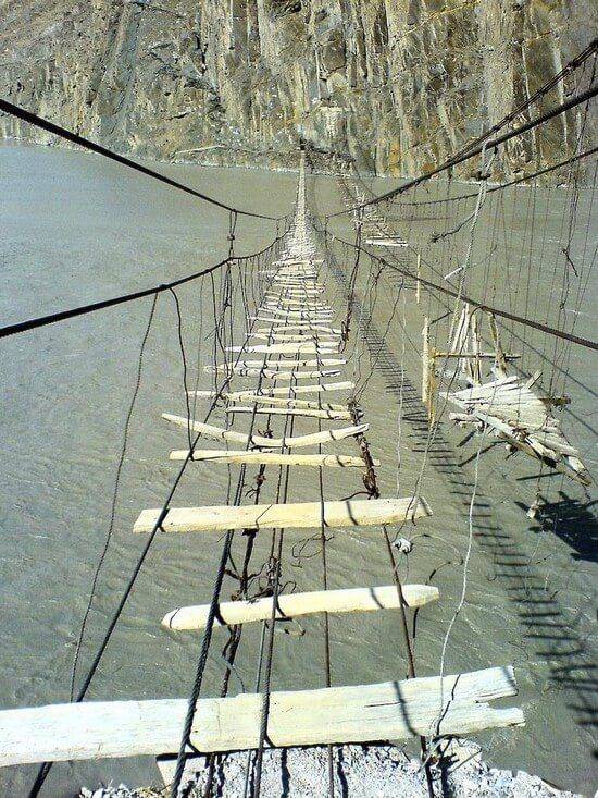 Dangerous Rope Bridge
