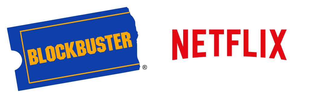 Blockbuster and Netflix logos