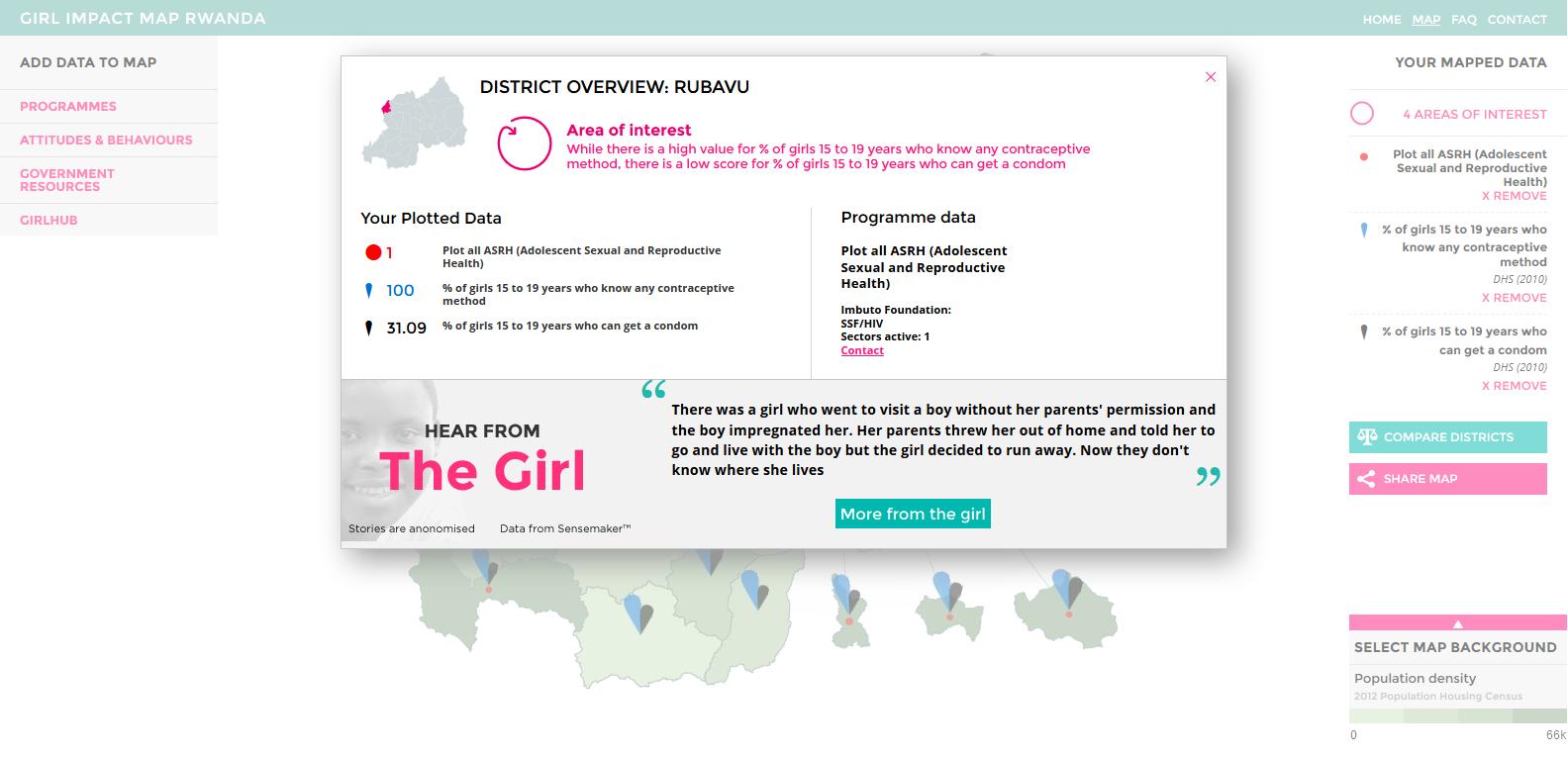 Girl Impact Map - District Detail